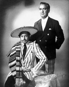Tennessee Williams and his boyfriend form the 1940s, Pancho Rodriguez, in a photo from 1964.