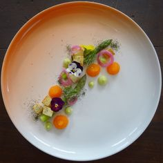 Asparagus • Bleak Roe from Kalix • Ramson Mayonnaise • Seaweed Salt Crutons • Pickled Onion • Dill • Edible Flowers