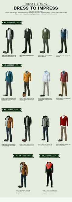 57 Infographics that will make a Man Fashion Expert guide to build a perfect capsule wardrobe for men, men's style guide Mens Style Guide, Men Style Tips, Mens Fashion Guide, Fashion Menswear, Men's Fashion Tips, Fashion Ideas, Fashion Trends, Men Fashion, Style Masculin
