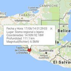 #SismoSV  Fecha y Hora: 17/06/14 01:29:03 Lugar: Sismo regional o lejano Coordenadas: 14.93N 92.18W Profundidad: 111.1 km Magnitud(Richter): 6.5MW