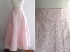 1950s Pink Skirt / Vintage 50s Pink and by SavvySpinsterVintage, $28.00
