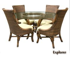 Explorer Wicker Dining Room Set | Capris Furniture Dining Series 696