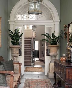With soaring ceilings, antique light fittings, restored Georgian fireplaces and wall finishes by and… Dream Home Design, My Dream Home, Home Interior Design, Interior Decorating, House Design, Design Your Own House, Interior Design Traditional, Living Room Interior, Interior Design Portfolios