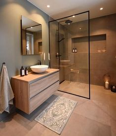 44 magnificient scandinavian bathroom design ideas that looks cool – Bathroom Inspiration Scandinavian Bathroom Design Ideas, Modern Bathroom Design, Bathroom Interior Design, Bath Design, Key Design, Toilet And Bathroom Design, Bathroom Vinyl, Brown Bathroom, Mirror Bathroom