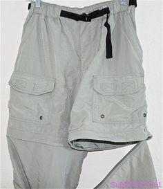 REI Convertible Pants Shorts Zip Off Cargo Hiking Trail Belt Quick Dry S 4 6 #REI #Pants #Convertible #shorts