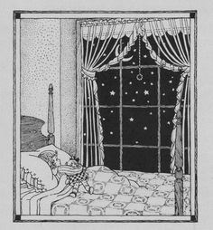 """""""And often while I'm dreaming so,  Across the sky the Moon will go;  It is a lady, sweet and fair,  Who comes to gather daisies there.""""  Bedtime verse  From the poem """"Daisies"""" writtten by Frank Dempster Sherman."""