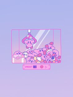 Kirby Claw Machine The absolute most wonderful wallpapers are here! Kawaii Wallpaper, Cute Wallpaper Backgrounds, Wallpaper Iphone Cute, Cute Cartoon Wallpapers, Animes Wallpapers, Aztec Wallpaper, Sailor Moon Wallpaper, Iphone Backgrounds, Pink Wallpaper