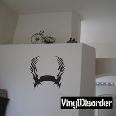 Tribal Flames Frame Wall Decal - Vinyl Decal - Car Decal - DC 032