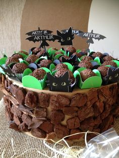 Amazing truffle display for a HTTYD party Dragon Birthday Parties, Dragon Party, Birthday Party Themes, Toothless Party, Dragons 3, Viking Party, Dragon Cakes, Party Entertainment, How Train Your Dragon