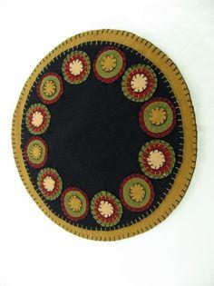 wool felt penny rug...I love mine just like this one.