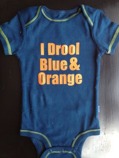 I Drool Blue & Orange - Chicago Bears Game Day Onesie on Etsy, $14.00