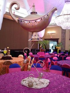 Arabian wedding Aladdin lamp