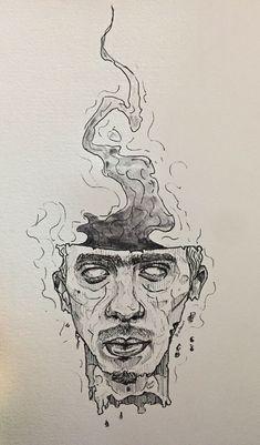 - ̗̀ sagt mein er A rt ̖́- - Art xx - - {hashtag} - Inspiration Art, Art Inspo, Drawing Sketches, Art Drawings, Unique Drawings, Arte Sketchbook, Art Hoe, Ap Art, Psychedelic Art