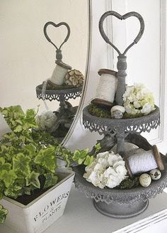Shabby Chic Inspired: home decor with heart