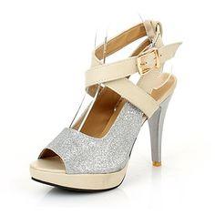 De las mujeres Paillette del tacón de aguja Sling Back Sandals Shoes (más colores) – USD $ 29.99