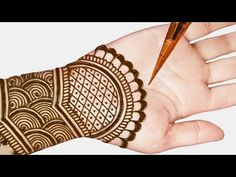 mehndi designs easy and simple step by step - Arabic easy mehndi design for front hands. in this video i will share you step by step beautiful mehndi design . Mehendi Designs For Kids, Cute Henna Designs, Simple Arabic Mehndi Designs, Mehndi Designs For Beginners, Mehndi Simple, Best Mehndi Designs, Arabic Design, Tattoo Designs, Mehndi Designs Front Hand