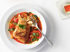 Almond-Crusted Halibut with Vegetable Curry