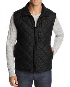 Marc New York Chester Quilted Zip-Front Vest Men - Bloomingdale's Patagonia Vest Outfit, Vest Outfits, Puffer Jackets, Ladies Dress Design, Chester, Vest Men, Zip, Clothes For Women, Lady