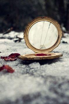 This broken mirror looks like #Halloween to me.