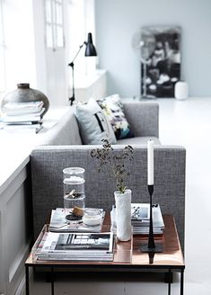 Oh god. That copper sidetable. Love that it matches so well with black.