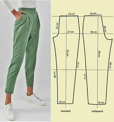 Fashion Sewing, Diy Fashion, Free Printable Sewing Patterns, Costura Fashion, Fashion Drawing Dresses, Pleated Pants, Sewing Projects For Beginners, Pants Pattern, Sewing Techniques