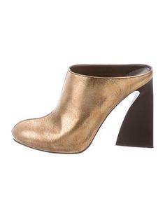 Stella McCartney Metallic Leather Mules
