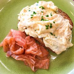 Scrambled eggs with Salmon @ Central Street Cafe (Breakfast and Brunch)