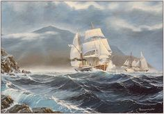 Old Sailing Ships, Boat, Vehicles, Painting, Dinghy, Painting Art, Boats, Car, Paintings