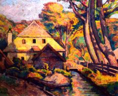 Camil Ressu - Moară în peisaj