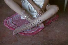 Blush Starry Tulle Socks
