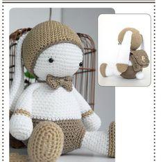 Ravelry: Lulu Papillon pattern by Dam'M (Alexia Giraud) Amigurumi Doll, Amigurumi Patterns, Doll Patterns, Crochet Patterns, Crochet Doll Clothes, Knitted Dolls, Crochet Dolls, Crochet Bunny, Knit Or Crochet