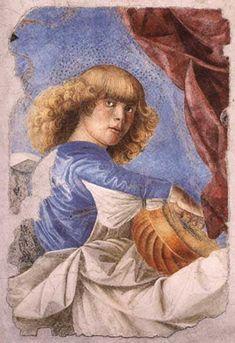 Mellozo da Forli. Anjo tocando alaúde. Afresco. Museu do Vaticano.