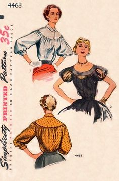 Simplicity 4463 Pretty as a Picture Blouse / ca. 1953