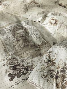 DJOOZ Duvet Cover Detail Vintage Girl & Small Flowers