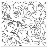 CRAFTS-TOO Embossing Folder Large Roses 14cm x 14cm FREE SHIPPING