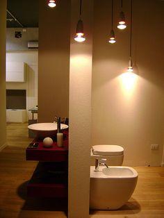 allestimento ambiente bagno per azienda arredo bagno