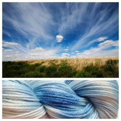 ~ 5 available Lovely blue skies. The best! These merino/bamboo blended skeins are perfect for warmer summer days. The bamboo helps keep you cool and comfortable. They are also so so soft! Colors: sky blue, white (I use only professional grade dyes) Yards:  /- 270 yardsWeight: light worsted weight Fiber: 60% merino, 40% bamboo Care instructions: hand wash, cool water, lay flat to dryNOTE: all my hand-dyed and/or hand-painted skeins are unique. Even when coming from ...