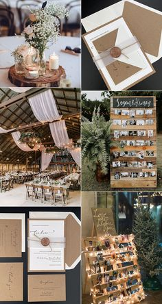 garden wedding decorations receptions Country Rustic Wedding Invitations with Craft Paper and Burlap-Free RSVP Cards Christmas Wedding, Fall Wedding, Rustic Wedding, Our Wedding, Dream Wedding, Wedding In October, Wedding Tips, Wedding Stage, Wedding Color Schemes