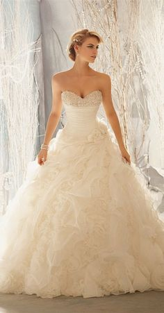 Wedding gown for the real princess in you  #weddings #fashion #bridal