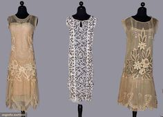 Three Lace Tea Gowns, 1920s, Augusta Auctions, November 10, 2010 - St. Pauls - NYC, Lot 120