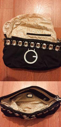 Guess Jewel Black Sequin Clutch Purse $4.0