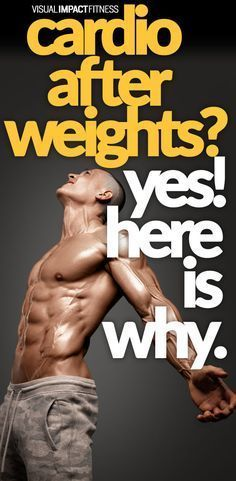 Recent studies show that doing weights with cardio amplifies that fat loss effects of your cardio training. #cardio #weightlifting #weighttraining #workouts #freeweights #crossfit
