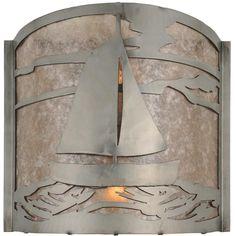 12 Inch W Sailboat Wall Sconce - Custom Made