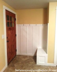 Great idea for a lot of rooms actually - without the hooks though. Mudroom Addition for a Small Entry