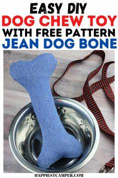 Dog Crafts, Crafts To Make, Easy Sewing Projects, Sewing Tutorials, Dog Chew Bones, Durable Dog Toys, Bazaar Crafts, Dog Chews, Diy Dog