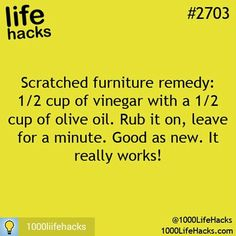 1000 life hacks is here to help you with the simple problems in life. Posting Life hacks daily to help you get through life slightly easier than the rest! Household Cleaning Tips, House Cleaning Tips, Diy Cleaning Products, Cleaning Solutions, Cleaning Hacks, Cleaning Wood, Household Cleaners, Green Cleaning, Life Hacks Diy