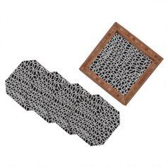Gneural Compression Coaster Set | DENY Designs Home Accessories
