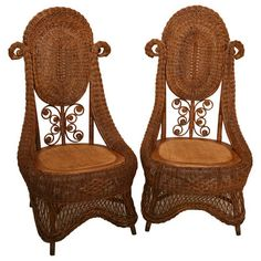 Victorian Wicker Chairs