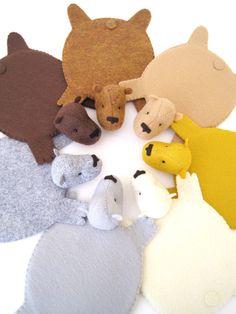Bear Rug Coasters, @NaTaya Stewart Doyle... for some reason these reminded me of you. hahaha