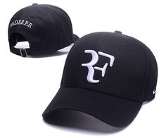 Men s   Women s Nike Hybrid RF Roger Federer Tennis Curved Dad Hat - Black    White 8842bfc1a35